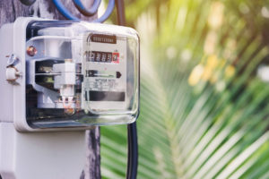 electric meter with palm