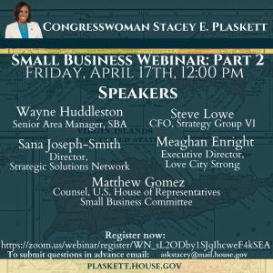 Plaskett Small Business Webinar 2 promo