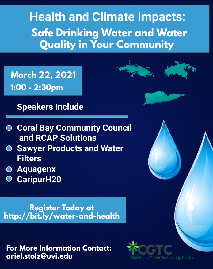 Safe Drinking Water and Water Quality in your Community