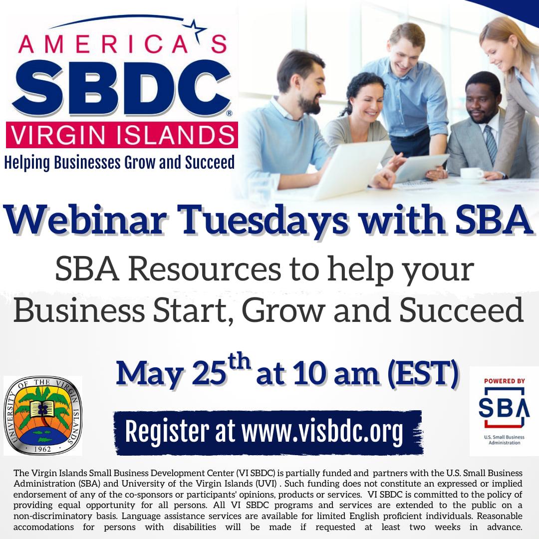 sbdc webinar tuesday may 25
